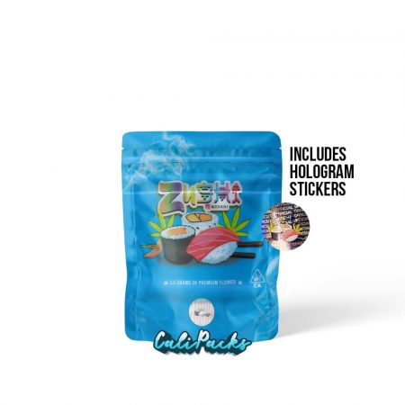Zushi 3.5g Bags with Hologram Stickers