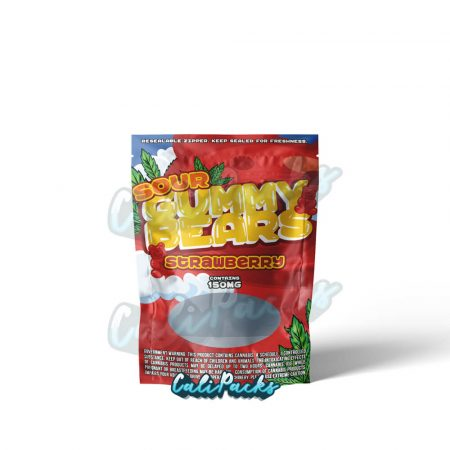 Gummy Bears Strawberry THC Sweet Packaging