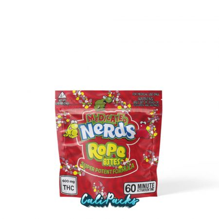 Medicated Nerds Bites Red Mylar Pouch