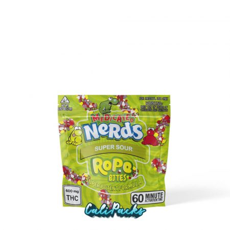 Medicated Nerds Super Sour Rope Bites Mylar Pouch