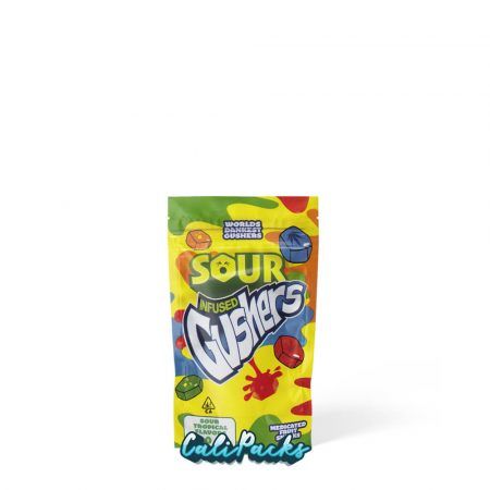 Sour Infused Gushers Mylar Bag