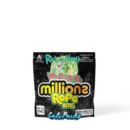 Medicated Millions Rick and Morty Rope Bites Mylar Pouch