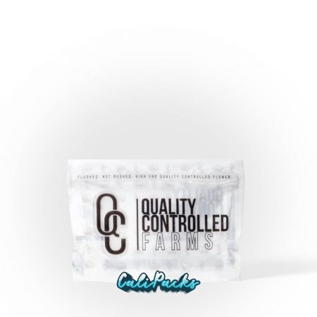 Quality Controlled Farms 3.5g Mylar Bag by Calipacks.co.uk