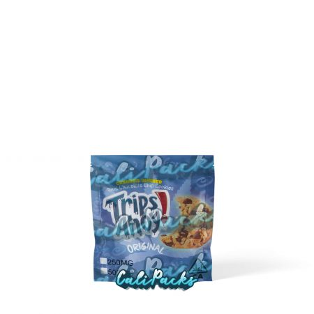 Trips Ahoy Cannabis Infused Cookie Blue 250mg/500mg Mylar Bag . Does not edibles, this is packaging only. Supplied by Calipacks.co.uk