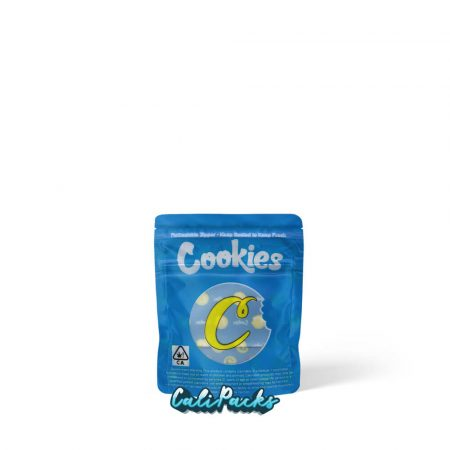 Cookies - Small Blue & Yellow Child Resistant Mylar bag