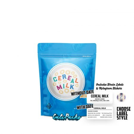 Cookies Cereal Milk 3.5g Mylar Bag with Strain Labels