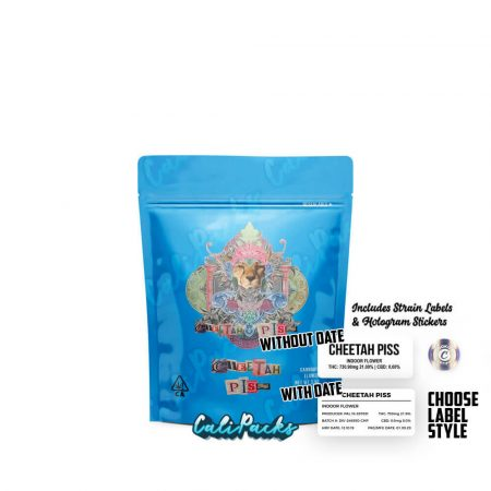 Cookies Cheetah Piss 3.5g Mylar Bag with Strain Label