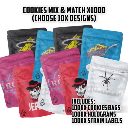 Cookies Mix & Match - 1000x Bags, Holograms & Stickers