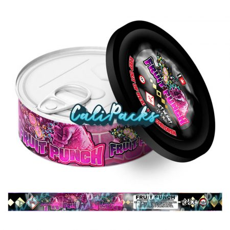 Fruit Punch Self Seal Ring Pull Tin Labels - 3.5g
