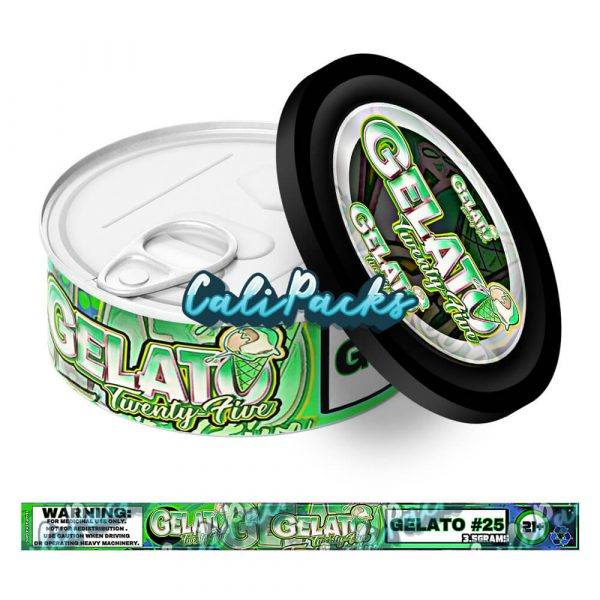 Gelato 25 Self Seal Ring Pull Tin Labels - 3.5g