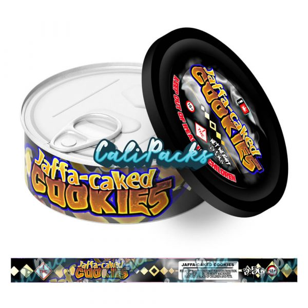 Jaffa Caked Cookies Self Seal Ring Pull Tin Labels - 3.5g