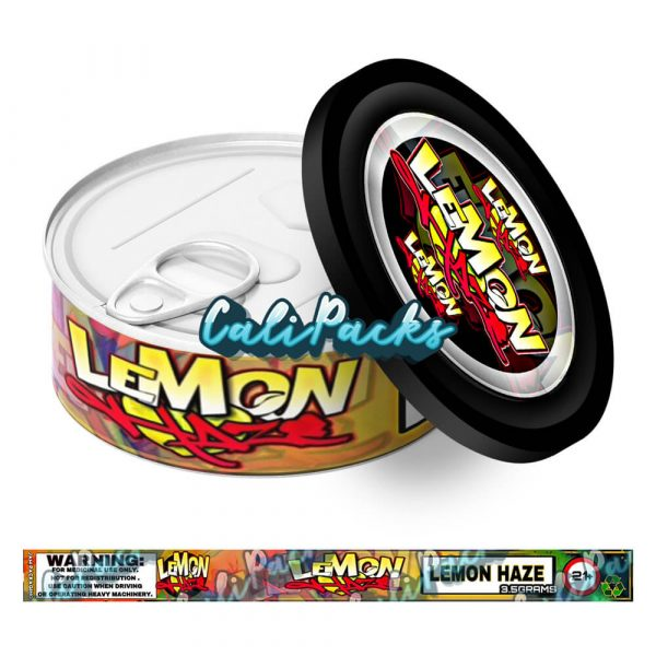 Lemon Haze (Red) Self Seal Ring Pull Tin Labels - 3.5g