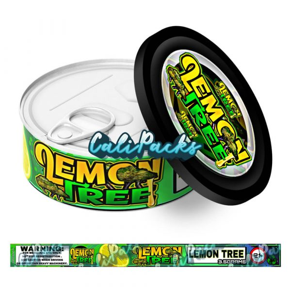Lemon Tree Self Seal Ring Pull Tin Labels - 3.5g