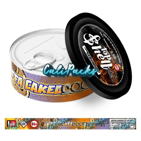Jaffa Caked Cookies Tin Labels 3.5g - Top Shelf