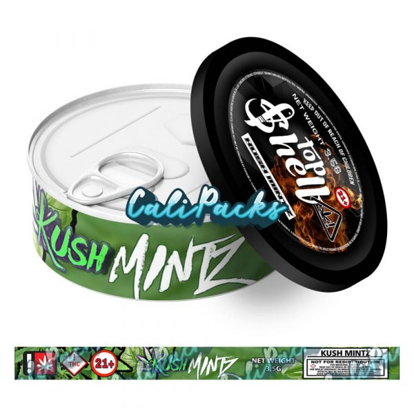 Kush Mintz Tin Labels 3.5g - Top Shelf