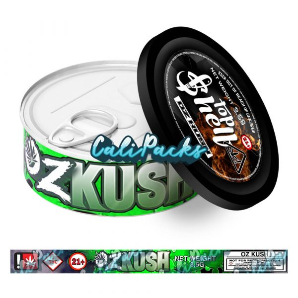 OZ Kush Tin Labels 3.5g - Top Shelf