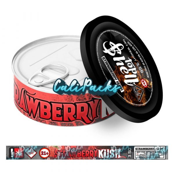 Strawberry Kush Tin Labels 3.5g - Top Shelf