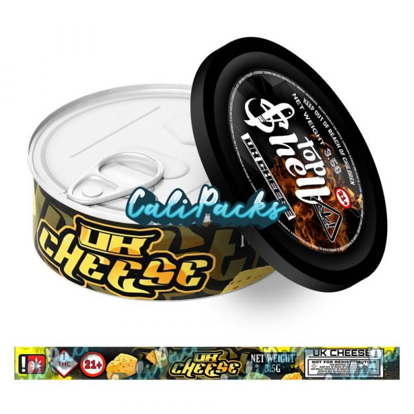UK Cheese Tin Label 3.5g - Top Shelf