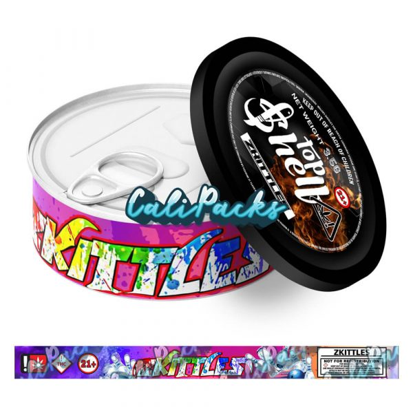 Zkittles Tin Label 3.5g - Top Shelf