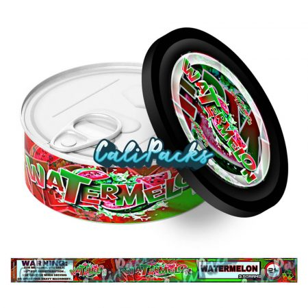 Watermelon Self Seal Ring Pull Tin Labels - 3.5g
