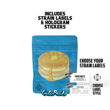 Cookies Pancakes 3.5g bag with Hologram and Strain Labels