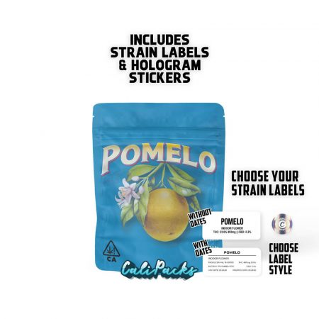 CookiesPomelo 3.5g bag with Hologram and Strain Labels
