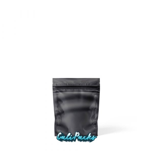 1g Blank Mylar Bags Matt Black with Clear Front - Pack of 100