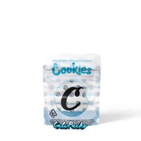 Cookies White & Blue 3.5g Child Resistant Mylar Bags (2020)