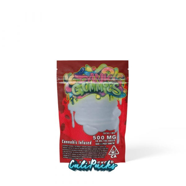 Dank Gummies Red 500mg Edibles Mylar Bag