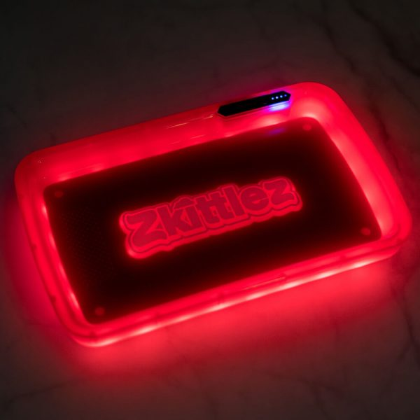 Zkittlez Red LED Glow Tray with Grinder