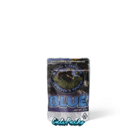 King Cookie Blue 3.5g Mylar Bag (stickers pre-applied)
