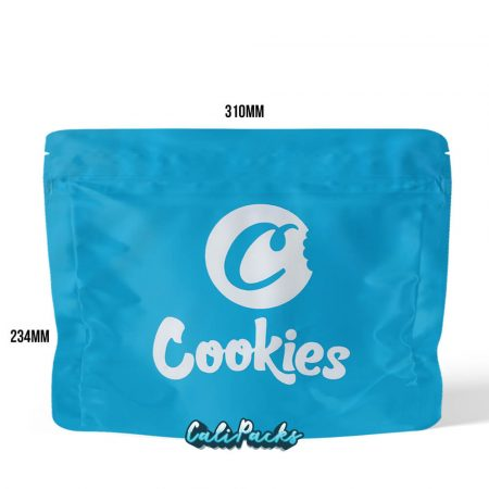 Cookies Extra Large Blue Child Resistant Mylar Bag