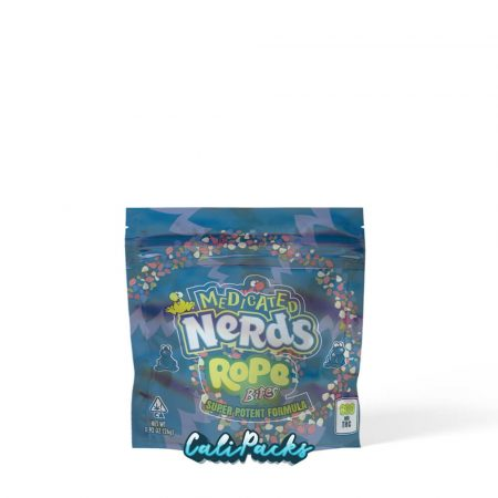 Medicated Nerds Blue Rope Bites Mylar Pouch