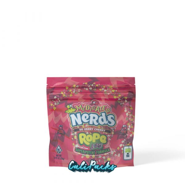 Medicated Nerds So Verry Cherry Rope Bites Mylar Pouch