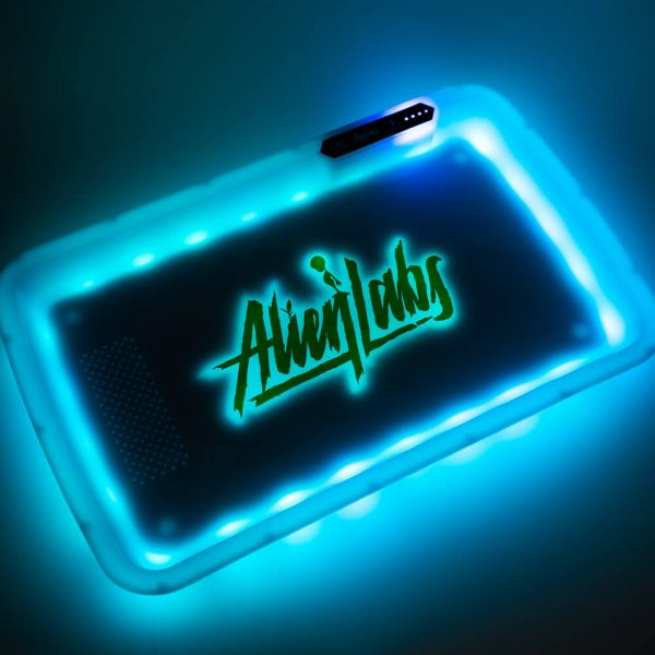 Alien Labs White LED Glow Tray with Grinder