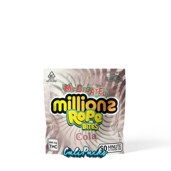 Medicated Millions Cola Rope Bites Mylar Pouch