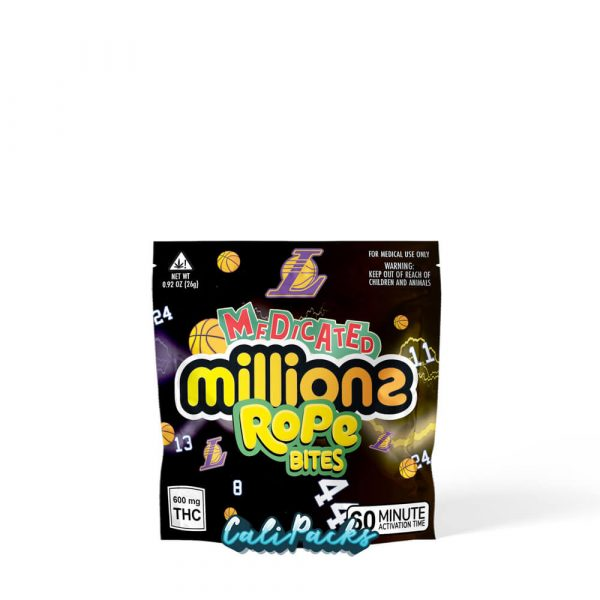 Medicated Millions LA Lakers Rope Bites Mylar Pouch