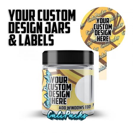 Your Custom Design 3.5g Screw Top Glass Jars