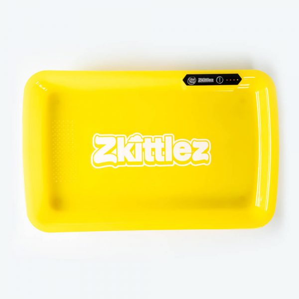 Zkittlez Yellow LED Glow Tray with Grinder