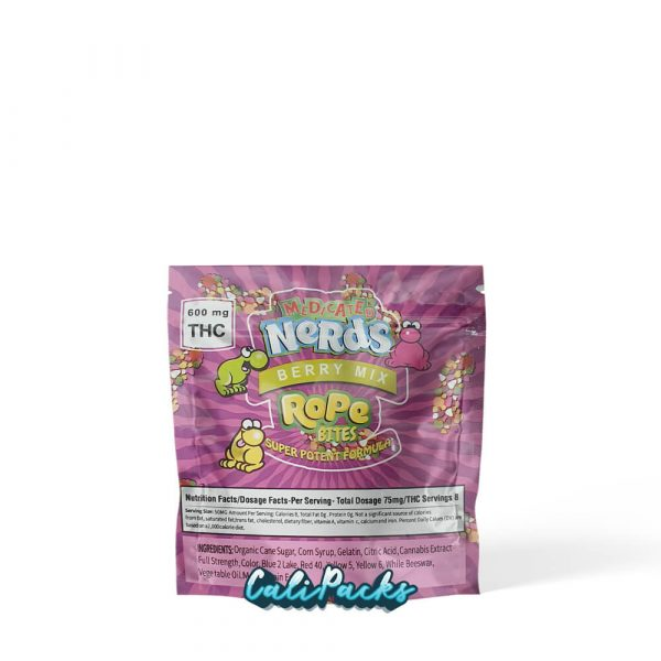 100x Medicated Nerds Berry Mix Rope Bites Mylar Pouch