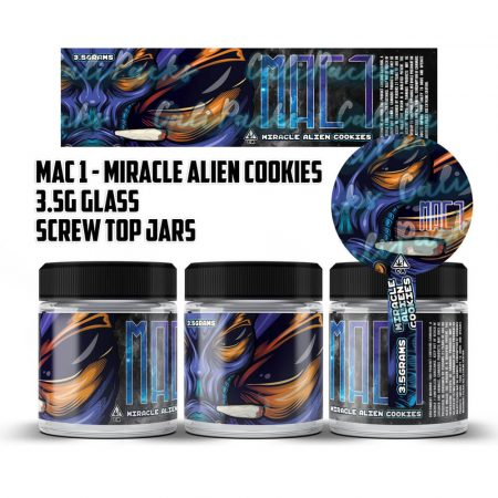 MAC 1 Miracle Alien Cookies 3.5g 60ml Screw Top Glass Jars by Calipacks.co.uk
