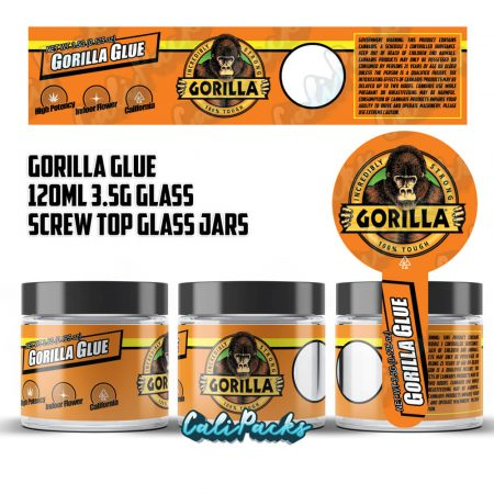 100x Gorilla Glue 3.5g 120ml Screw Top Glass Jars by Calipacks.co.uk