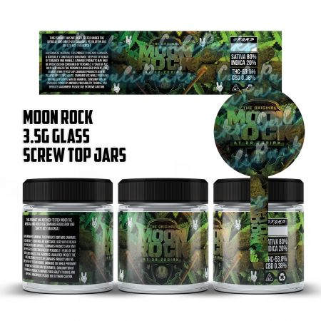 Moon Rock 3.5g 60ml Screw Top Glass Jars by Calipacks.co.uk