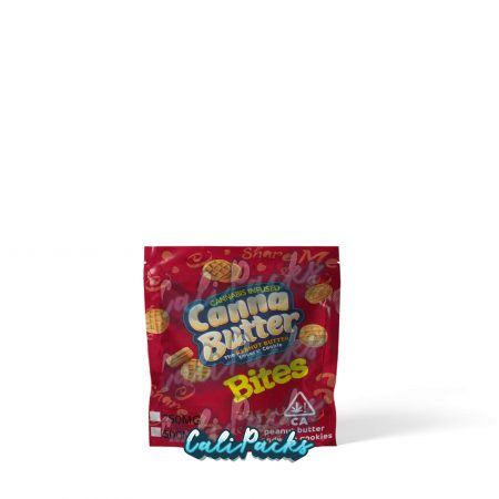 Canna Butter Cannabis Infused Peanut Butter Bites 250mg/500mg Mylar Bag by Calipacks.co.uk