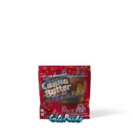 Canna Butter Cannabis Infused Fudge Covered Peanut Butter Cookie 250mg/500mg Mylar Bag by Calipacks.co.uk