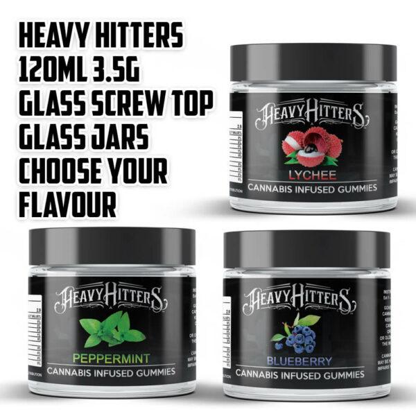 100x Heavy Hitters 600mg 120ml Screw Top Glass Jars by Calipacks.co.uk