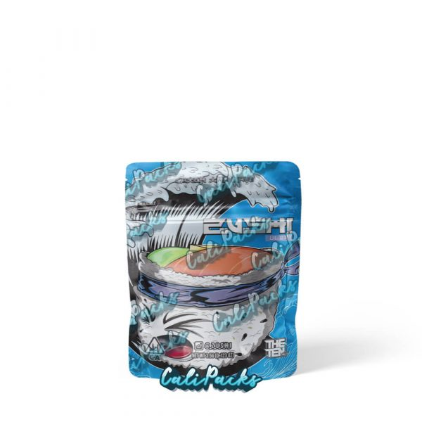 The Ten Co Blue Zushi vol 3 - 3.5g Child Resistant Mylar Bags by Calipacks.co.uk