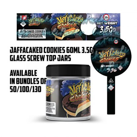 Jaffacaked Cookies 3.5g 60ml Screw Top Glass Jars by Calipacks.co.uk