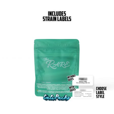 The Rare Lavata 3.5g bag with Hologram and Strain Labels by Calipacks.co.uk
