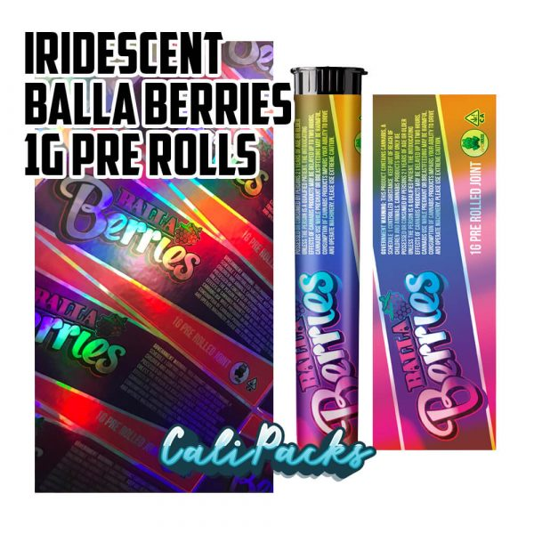Iridescent Reflective Balla Berries Pre-Roll Tubes by Calipacks.co.uk